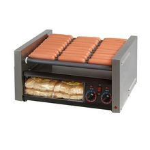 Star 50SCBBC Grill-Max Hot Dog Grill, roller-type with clear bun door, stadium seating, Duratec coated non-stick rollers, capacity 50 hot dogs & 48