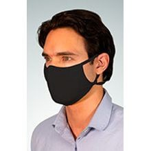 Adjustable, Reusable, Light-weight Face Mask in Black, 2-Ply, CDC Recommended, Sold by the each
