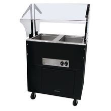 Advance Tabco BSW2-120-B-SB Portable Hot Food Buffet Table, electric, stainless steel top, matte black vinyl steel clad body, (2) 12