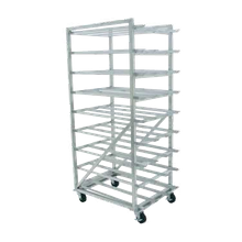 Advance Tabco CR10-162M-X Can Rack, mobile design with casters, with sloped glides for automatic can retrieval, designed for #10 & #5 cans, aluminum