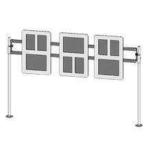 BSI ZS-MF-1 ZSpace Single Menu Frame, modular, with hanging bracket, post and rail not included