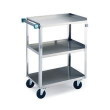 Lakeside 411 Utility Cart, 3-tier, open base, 500 lbs capacity, 15-1/2