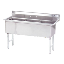 Advance Tabco FS-3-2424 Fabricated NSF Sink, 3-compartment, no drainboards, bowl size 24