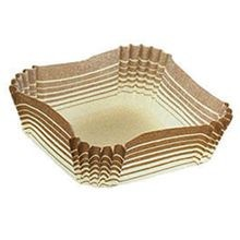 BAKE CUP SQUARE 1.4X1.4X.6 BROWN (2000)