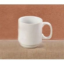 BASICS STACKING MUG 11-1/2OZ 3DZ/CS BRIGHT WHITE