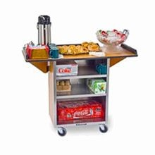 Lakeside 672 Beverage Service Cart, Drop Leaves, (3) 15-1/2