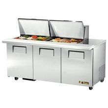 TRUE TSSU-72-24M-B-ST-HC Mega Top Sandwich/Salad Unit, (24) 1/6 size (4