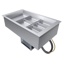 Hatco CWB-3 Drop-In Refrigerated Well, (3) pan size, top mount, electronic temperature control, pan support bars for full-size pans, condenser unit