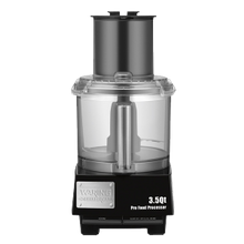 Waring WFP14S Commercial Batch Bowl Food Processor, 3.5 quart, vertical chute feed design, LiquiLock Seal System, holds liquids in the bowl