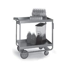 Lakeside 757 Heavy Duty Deep Shelf Utility Cart, 2-tier, open base, 700 lbs capacity, 21