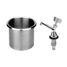 FMP 117-1129 Dipper Well Assembly, with 107-1033 faucet, fits a 5-5/8