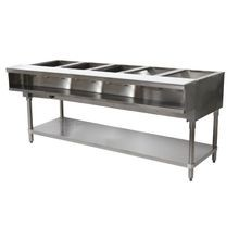 Water Bath Hot Food Table, LP gas, 77-3/4