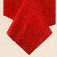 TABLECOVER 54X54 RED POLY/TISSUE (50)