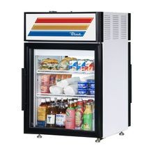 TRUE GDM-05PT-HC-LD Countertop Pass-thru Refrigerated Merchandiser, (2) shelves, laminated vinyl exterior, white aluminum interior with stainless