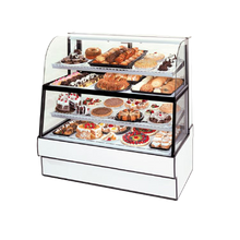 Federal CGR5960DZH Curved Glass Horizontal Dual Zone Bakery Case Refrigerated Bottom Non-Refrigerated Top, 59