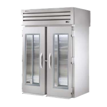 TRUE STG2RRT-2G-2S SPEC SERIES Roll-thru Refrigerator, stainless steel front, aluminum sides, (2) glass doors front, (2) stainless steel drs rear