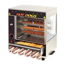 Star 175CBA Star Broil-O-Dog Hot Dog Broiler, 36 dogs & 32 buns capacity, cradle style, over & under hot dog broiler , built-in pull