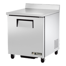 TRUE TWT-27F-HC Work Top Freezer, one-section, -10 F, stainless steel top with rear splash, front & sides, (1) stainless steel door, (2) shelves