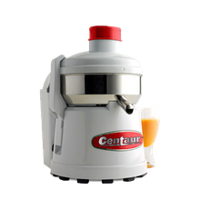 Centaur C4000 Centrifugal Juicer, electric, with automatic pulp ejection, stainless steel bowl, cantilever latch arms, white housing, rubber feet