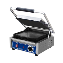 Globe GSG10 Bistro Panini Grill, single, countertop, electric, cast iron smooth plates, 10