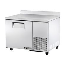 TRUE TWT-44F Deep Work Top Freezer, one-section, stainless steel top with rear splash, front & sides, (1) stainless steel door, (2) shelves, aluminum