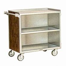 Lakeside 644 Bussing Cart, (3) shelf, enclosed base (3) sides, shelf size 21