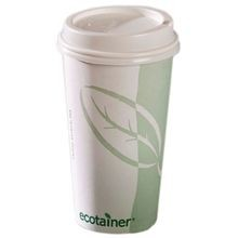 HOT CUP PAPER 20 OZ ECOTAINER (800) LID 10044015, 10044016