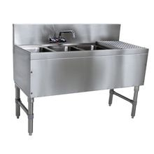 Advance Tabco PRB-19-43L Prestige Underbar Sink Unit, 3-compartment, 48