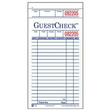 GUEST CHECK SINGLE TAG 50/BOOK (2500)