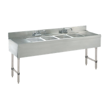 Advance Tabco CRB-64C-X Underbar Sink Unit, 4-compartment, 72