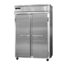 Continental 2F Freezer, reach-in, two-section, self-contained refrigeration, stainless steel front, aluminum interior & ends, standard depth