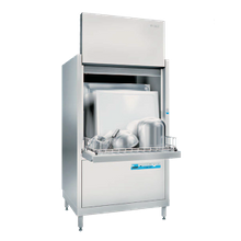 Meiko FV 130.2 Point 2 Series Pot & Pan Washer, front loading, high temperature with built-in booster, wheeled stainless steel basket (32-3/8