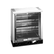 Equipex RBE-12 Sodir Rotisserie Roaster, infrared quartz elements, water bath/drip pan, (3) spits 9-12 bird roasting capacity, tinted safety glass