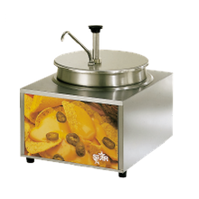 Star 11WLA-P Lighted Food Warmer, countertop, electric, 11 quart capacity, with pump, for use with 11 qt. round bain marie, includes: nacho, fudge