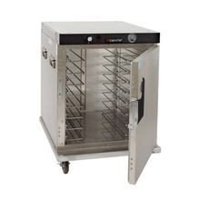 Cres Cor H-339-SS-UA-8C Cabinet, Mobile Heated, half-height, insulated, universal slides for 12