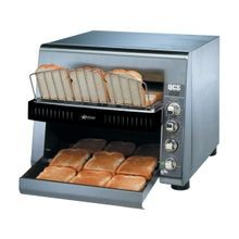 Star QCS3-1000 Star QCS Conveyor Toaster, electric, 1000 slices/hr., horizontal conveyor, analog speed control, standby switch, independent controls