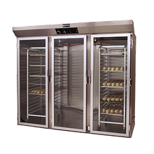 Doyon E336 Proofer Cabinet, roll-in, three-section, capacity two single racks and (10) shelves on 2-1/2