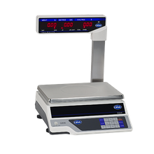 Globe GS30T Price Computing Scale with Display Tower, automatic entry tare, 30 lb x .01 lb. graduation, LCD display, 11-3/4