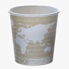 RENEWABLE&COMPOSTABLE HOT CUP 4 OZ WORLD ART 1000EA/CS