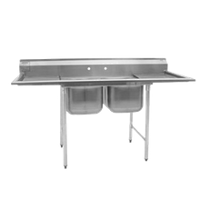 Eagle 314-18-2-18R-X 314 Series Sink, two compartment, 60-3/4