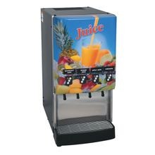 Bunn-O-Matic 37300.0023 JDF-4S Silver Series 4-Flavor Cold Beverage System, (3) 12 oz. drinks/min capacity, 2-modular dispense decks, 18 lb. ice