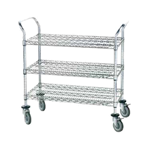 Advance Tabco WUC-2436P Wire Utility Cart, heavy duty, (3) shelves, shelf size approximately 36