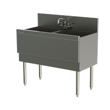 Perlick TSD362CA TSD Series Extra Capacity Underbar Sink Unit, two compartment, 36