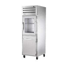 TRUE STG1R-1HG/1HS-HC SPEC SERIES Refrigerator, Reach-in, one-section, stainless steel front, aluminum sides, (1) glass & (1) stainless steel half