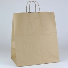 BAG PAPER BROWN WITH HANDLE 14X9.5X16.25 (200)