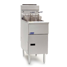Pitco SG14R-SS Solstice Fryer, gas, floor model, full frypot, 40-50 lb. oil capacity, millivolt control ONLY, stainless steel tank & exterior