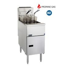 Pitco Frialator SG14S Solstice Fryer, Gas, Floor Model, Full Frypot, 40-50 Lb. Oil Capacity, Millivolt Control, Stainless Steel Tank