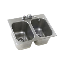 Eagle SR24-24-13.5-2 Self-Rimming Drop-In Sink, two compartment, 24