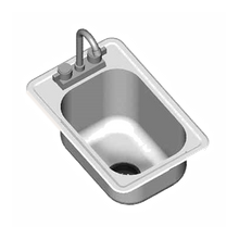 Eagle SR16-19-8-1 Self-Rimming Drop-In Sink, one compartment, 16
