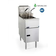 Pitco Frialator SG14-S Solstice Natural Gas Floor Fryer provides an efficent option for low-volume commerical kitchens.